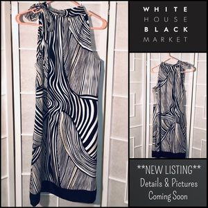 White House Black Market Silk Dress halter